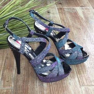 Nine & Co sparkly heels Sz 7